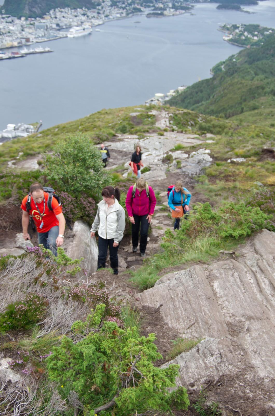 Wandern oder schon Klettern?