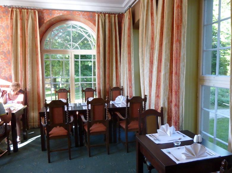 Das Essen war im Hotel Schloss Podewils ausgesprochen lecker