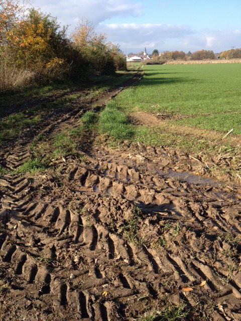 ... und die Feldecken werden auch gleich kurz und klein gefahren ...