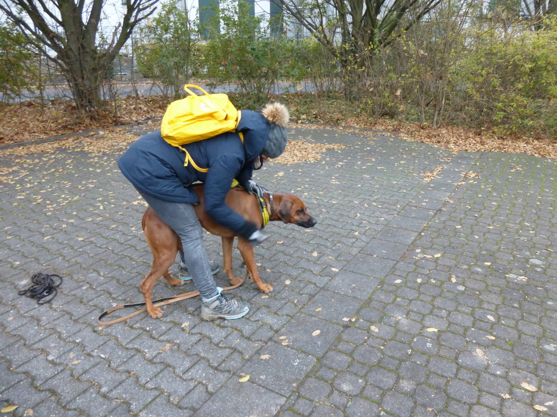 Annett und Puma bei der Vorbereitung