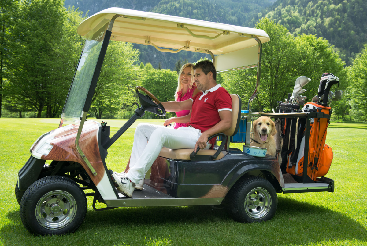 Golf-Car mit Hundelounge