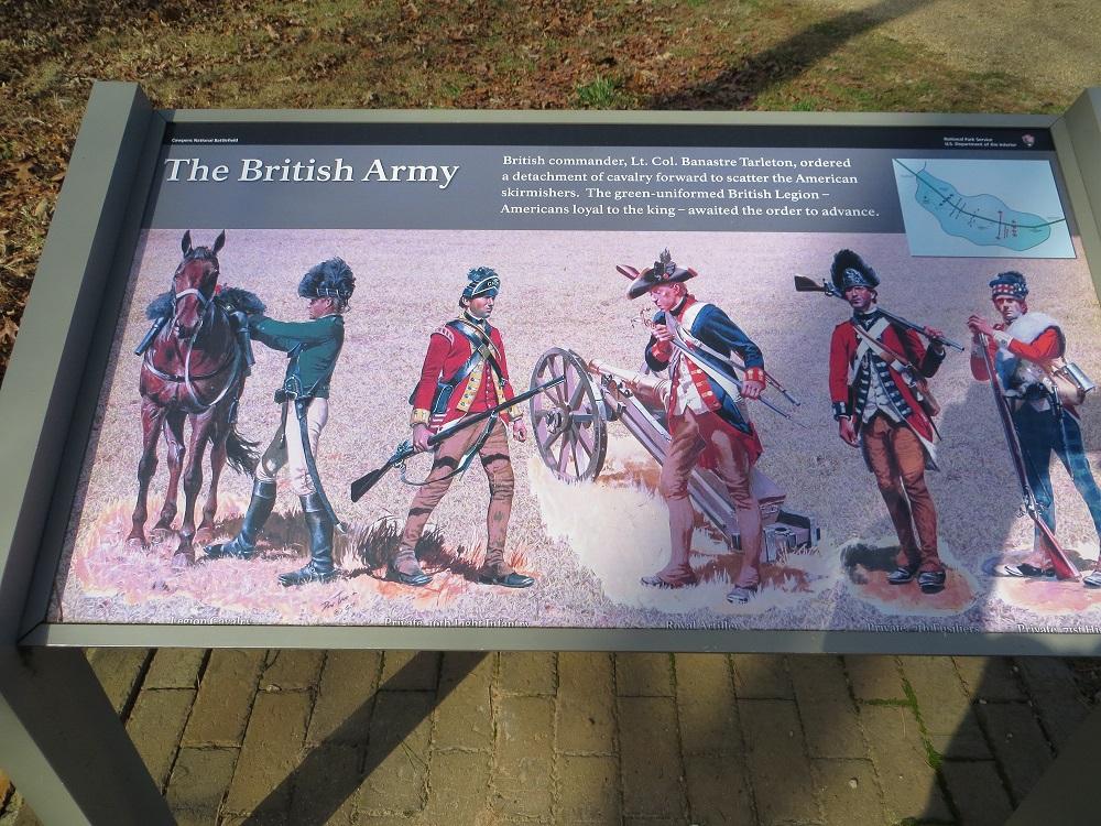 Informationstafel auf dem ehemaligen Schlachtfeld