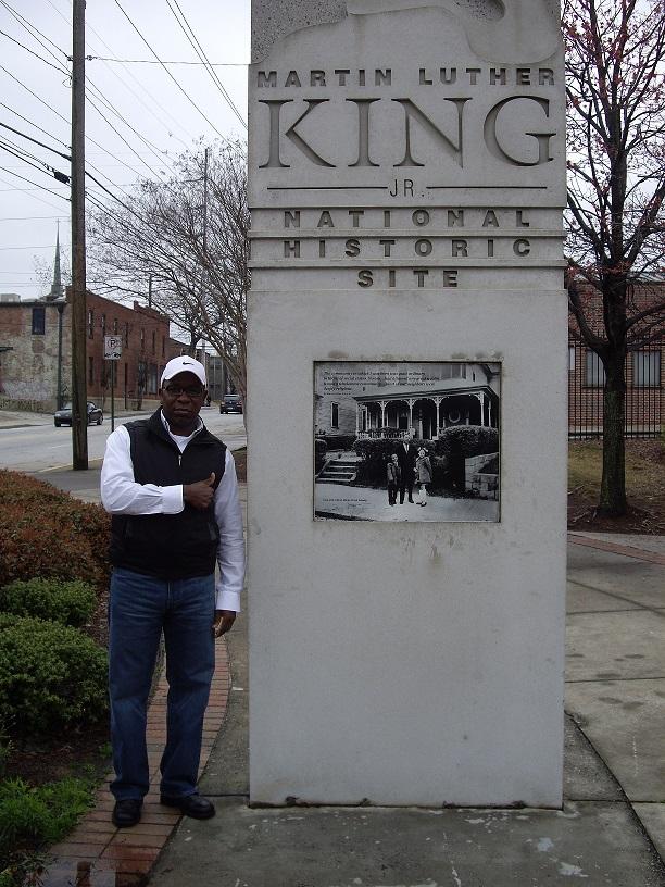 Martin Luther King, Jr. National Historic Site (mit meinem Mann Spencer)