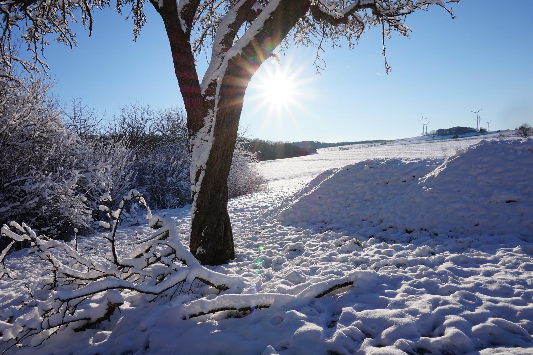 Dezember 2014 Winterwonderland im Westerwald am letzten Wochenende des Jahres
