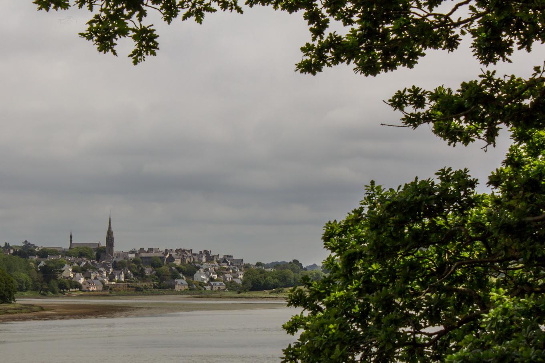 Blick auf Audierne in der Bretagne