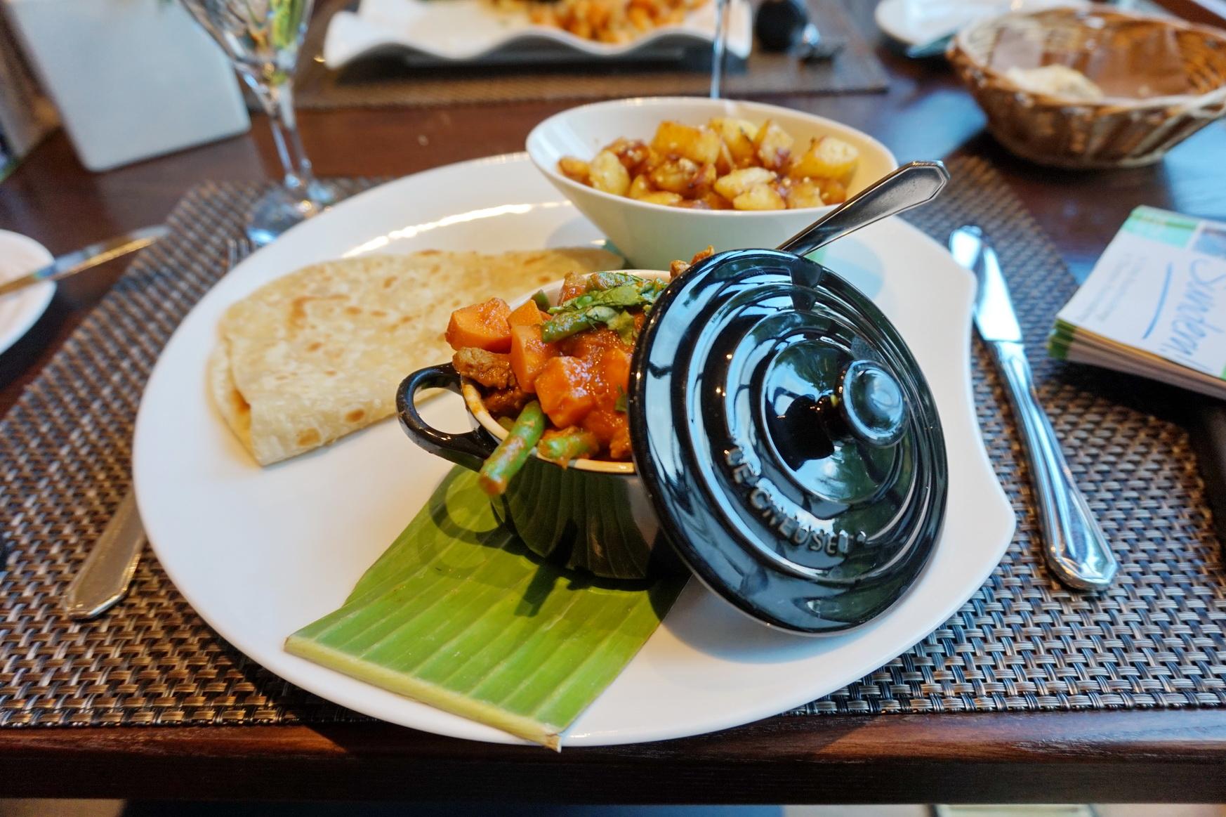 Rindfleisch Besan Ka Curry im Sunderland Hotel in Sundern im Sauerland