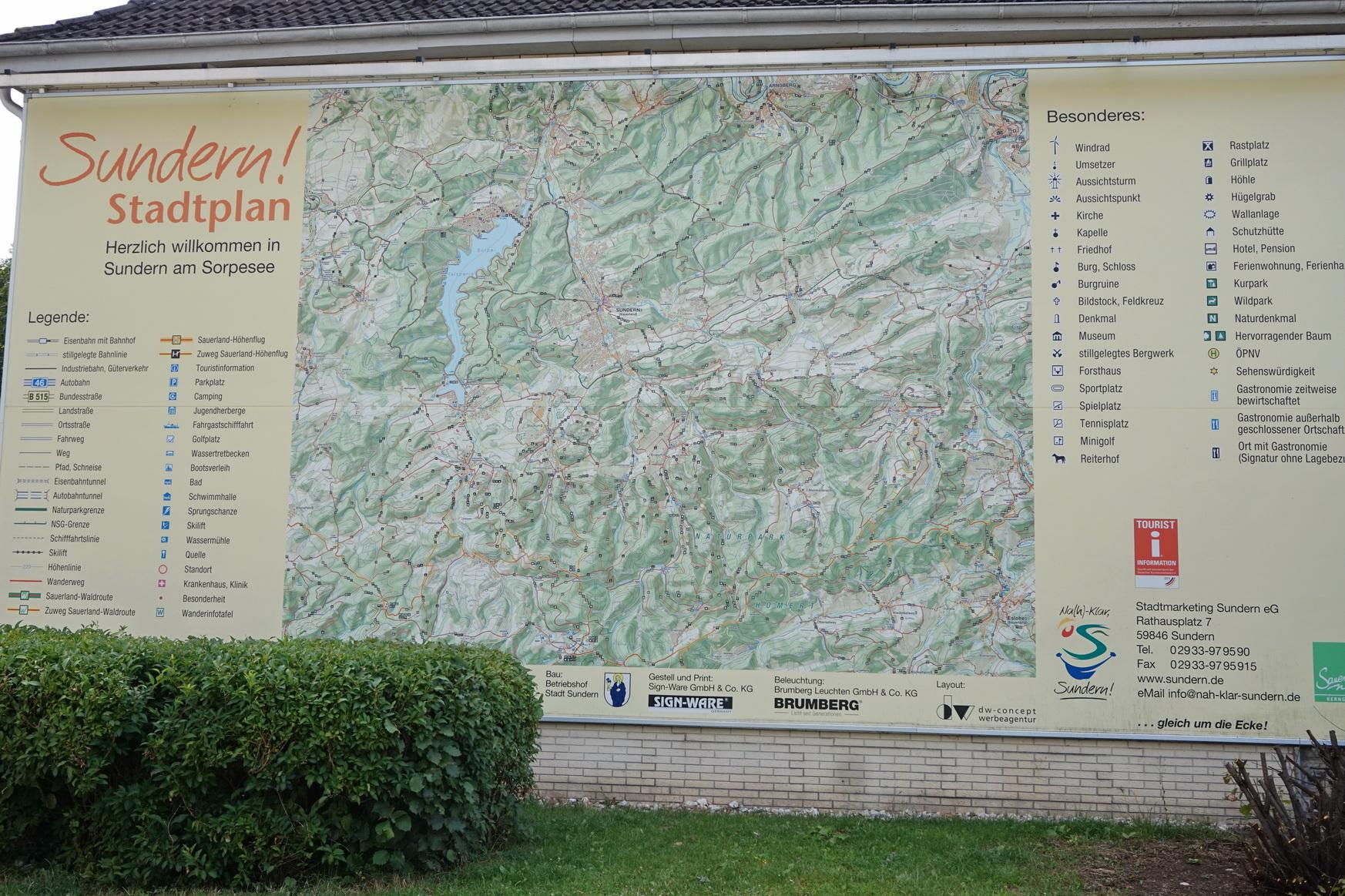 Wanderkarte in Sundern im Sauerland