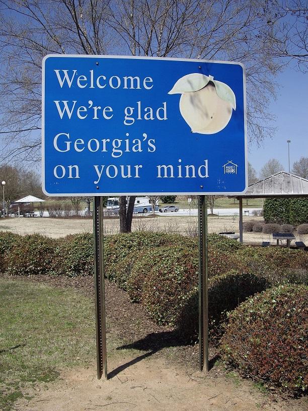Straßenschild in Georgia, USA