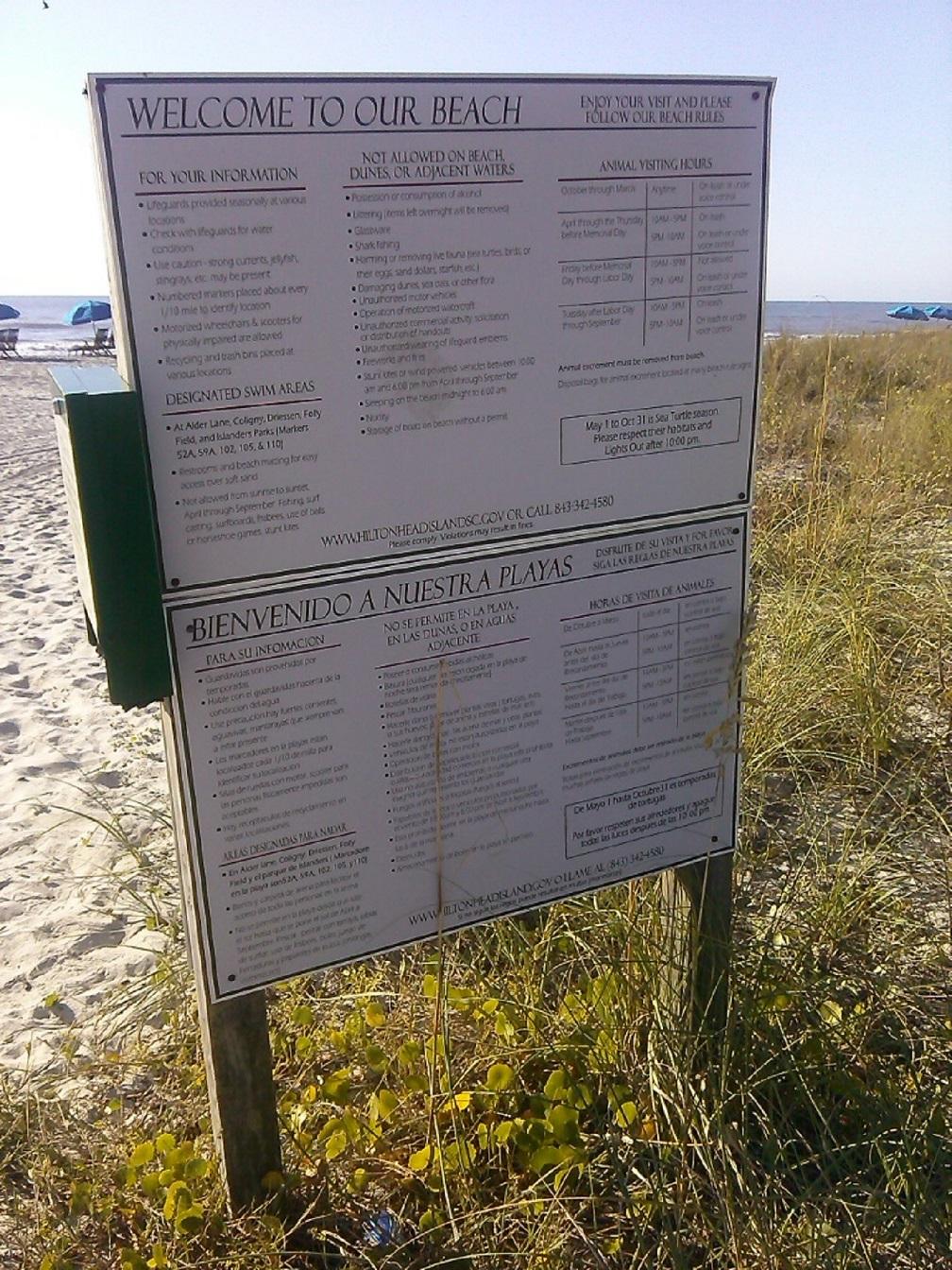 Die Regeln für den Strand auf Hilton Head, South Carolina