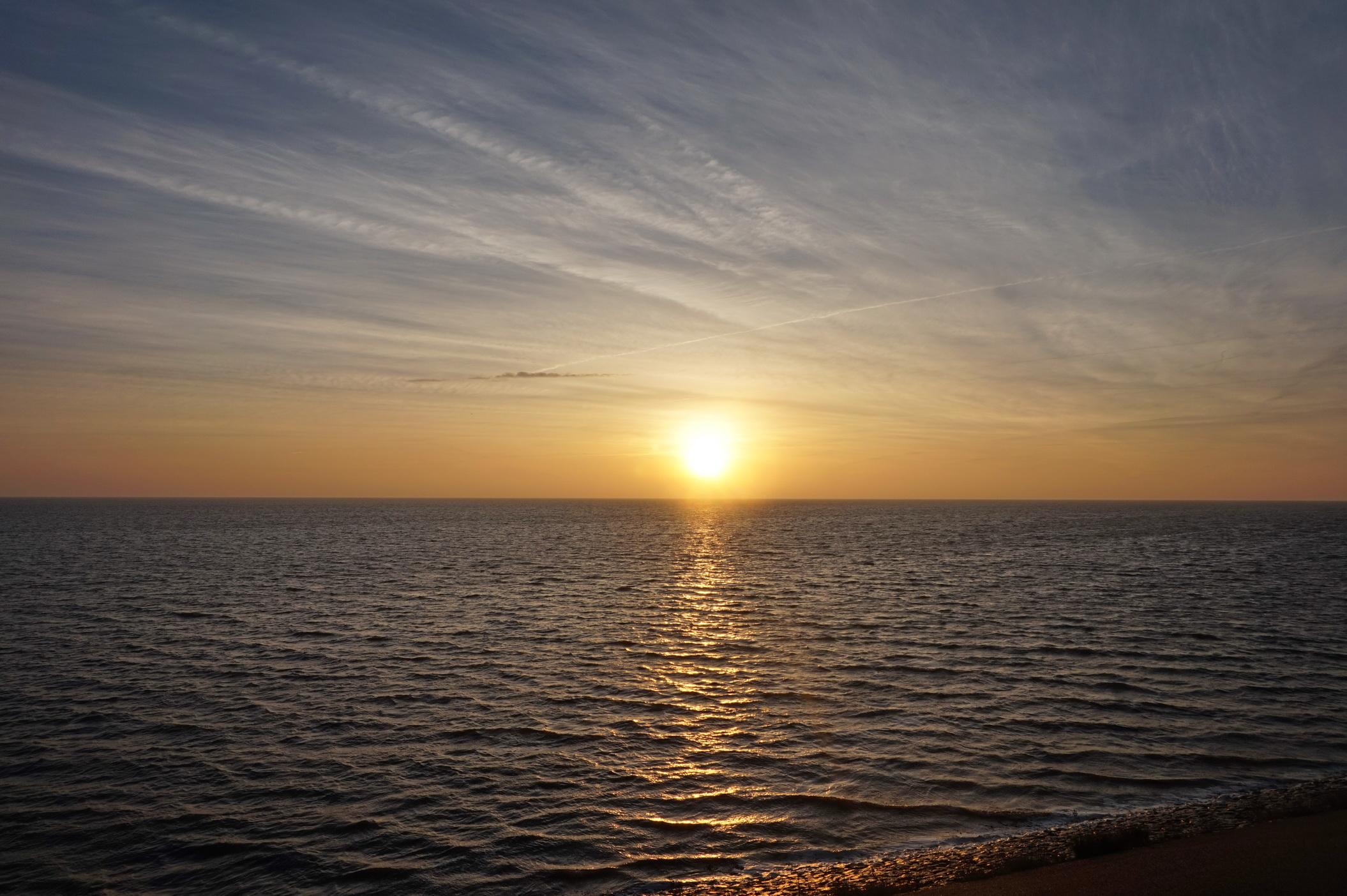 Texel - Sonnenaufgang am Deich