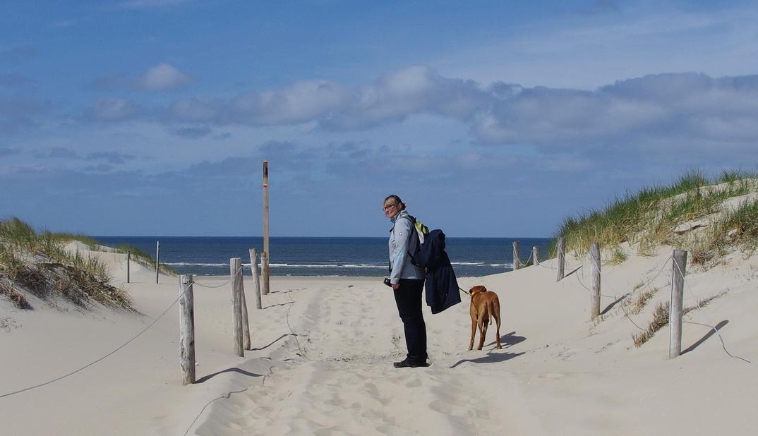 Texel - Strandspaziergang Leuchtturm TH 18