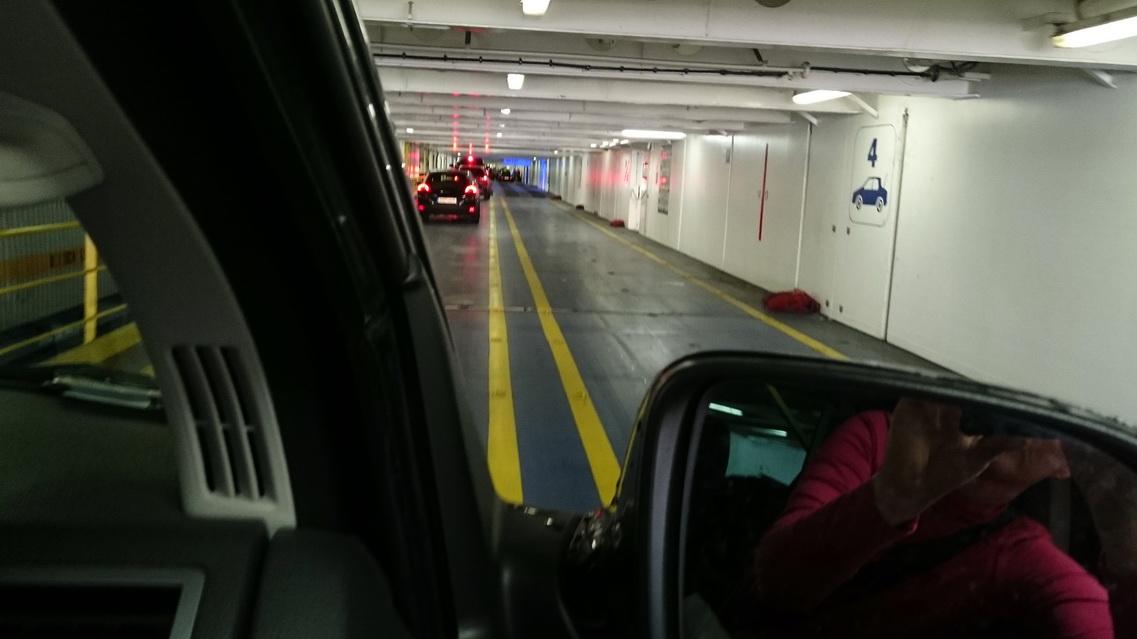 Wir parken auf Deck 4