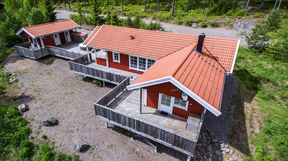 Unser Ferienhaus aus der Luft