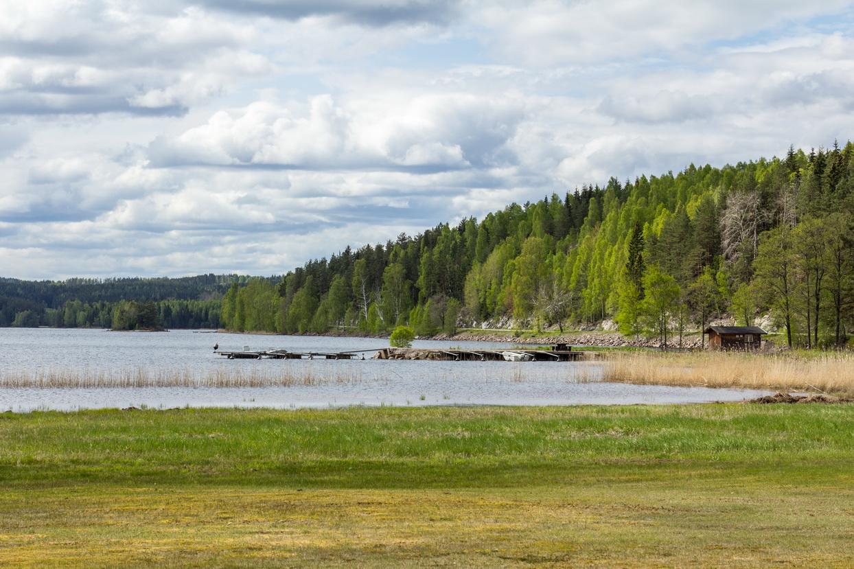 Die Pfeiffers in Schweden entdecken den See Östra Silen