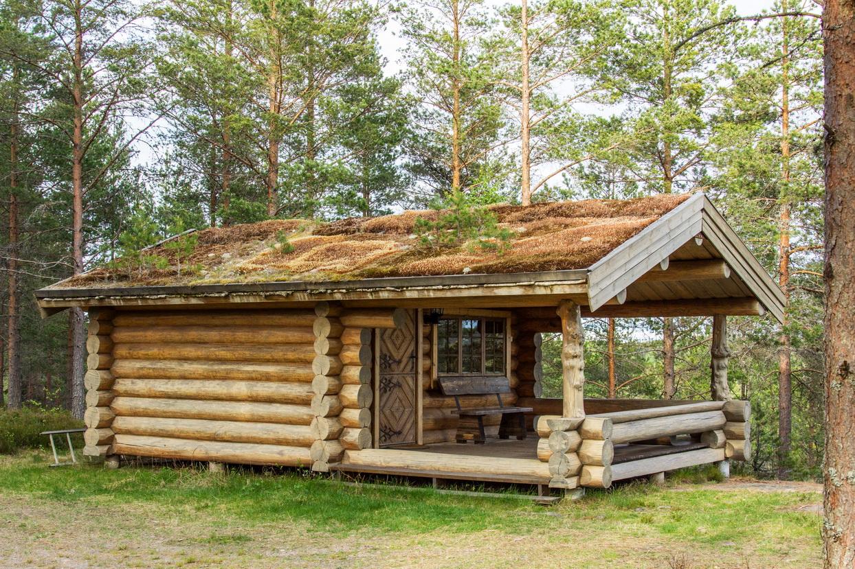 Blockhaus als Unterschlupf für Wanderer
