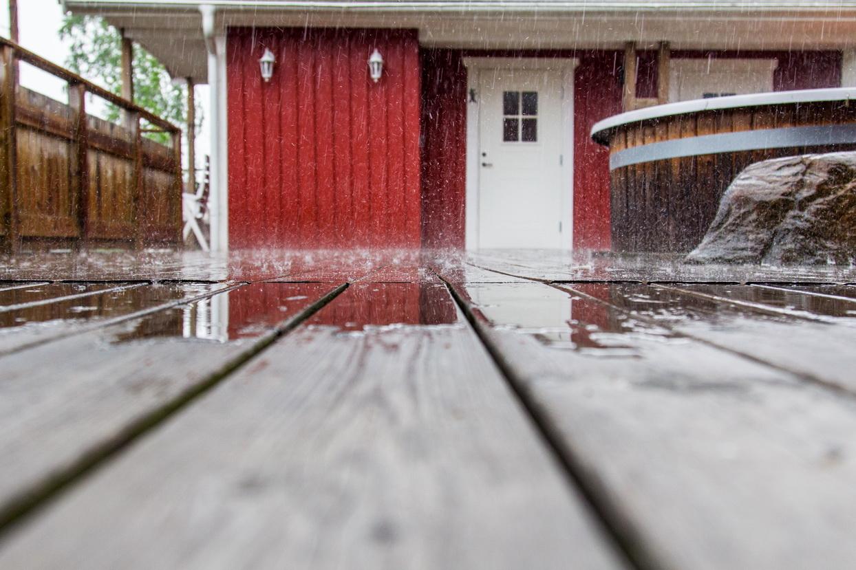 Die Pfeiffers in Schweden - es gießt wie aus Eimern