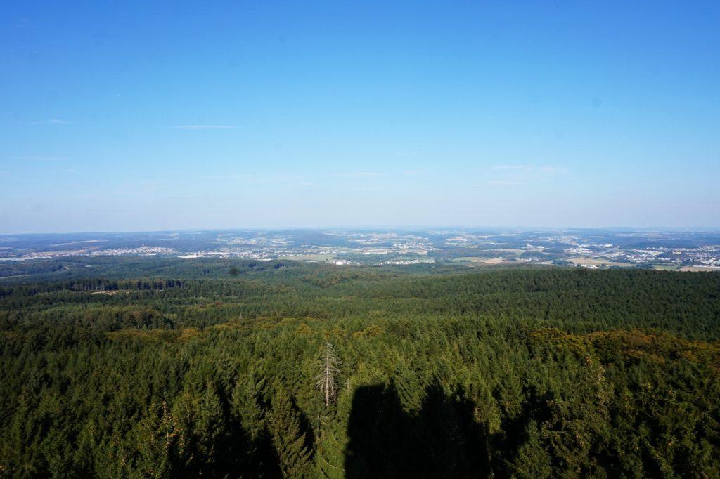 Der November brachte uns fantastische Fernsichten über den Westerwald.