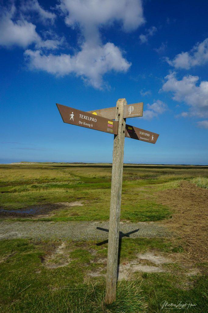 Alle Wanderwege auf Texel sind gut ausgeschildert