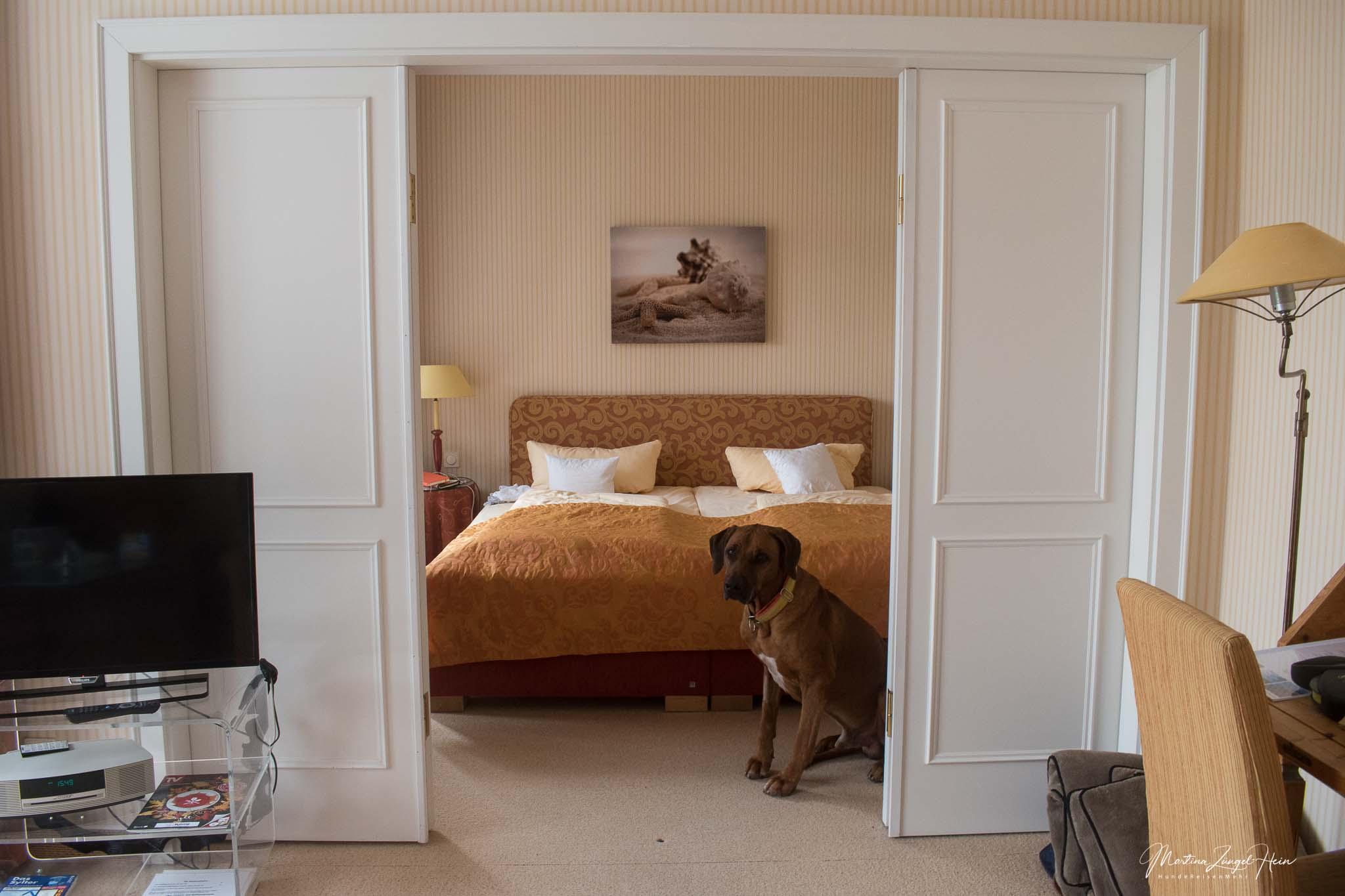Suite 114 hat ein separates Wohn- und Schlafzimmer