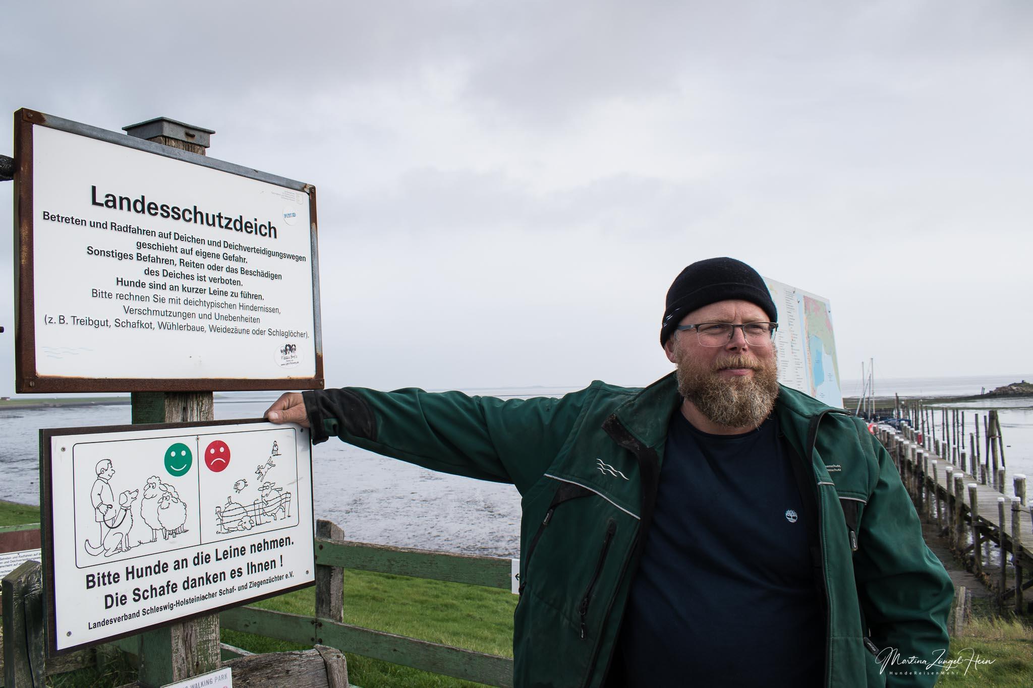 Sven Paech ist der Deichwart vom Rantumbecken