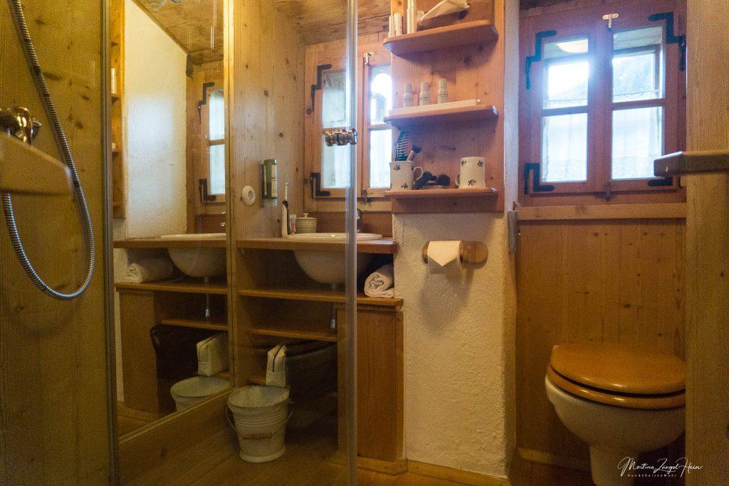 Duschbad im ersten Stock