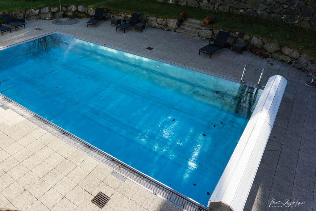 Der Hotel-Pool war noch in Betrieb