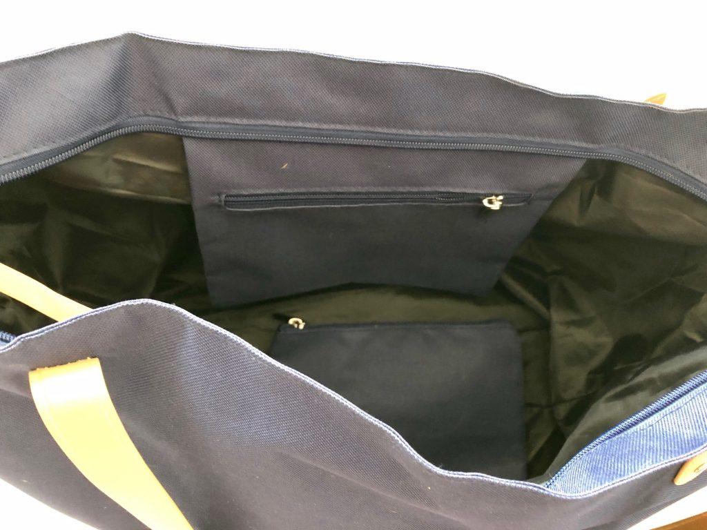 Innentasche auch mit Reißverschluss versehen