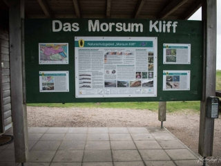 Umfangreiche Infos über das Morsum Kliff am Parkplatz