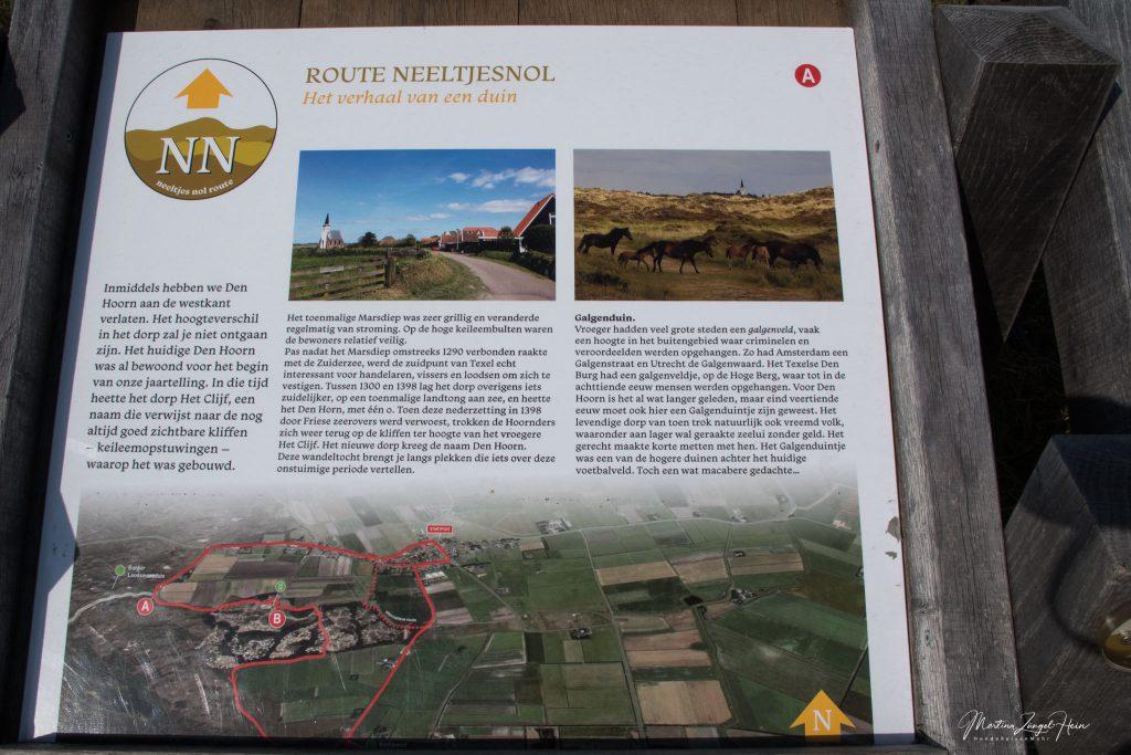 Die Route Neeltjesnol führt an der Batterie Den Hoorn vorbei