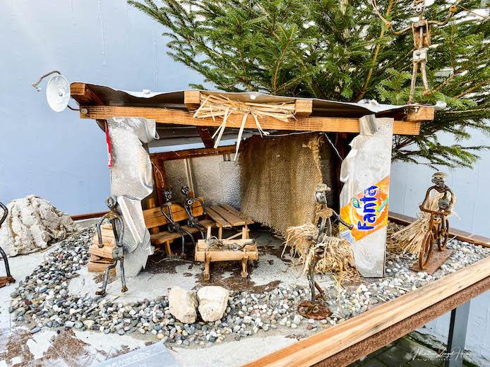 Meiner Meinung nach die modernste Interpretation einer Weihnachtskrippe auf dem gesamten Krippenweg Montabaur