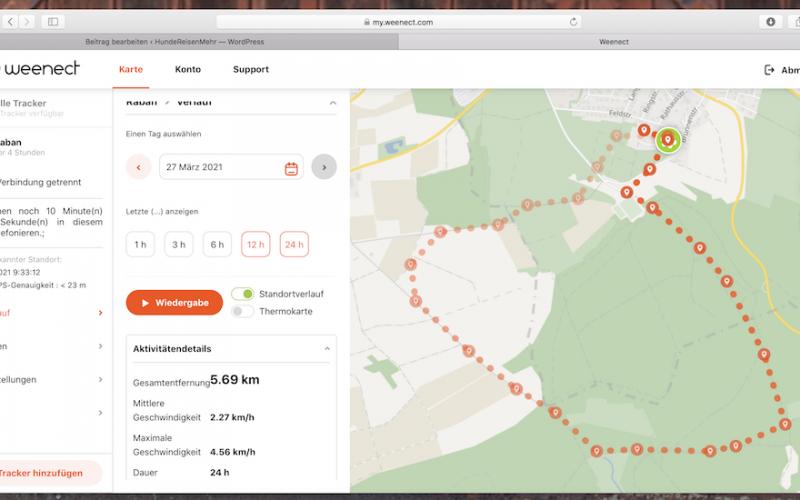 Persönlich gestestet - Weenect GPS Tracker für Hunde - zuerst sollte der Account bei Weenect angelegt werden