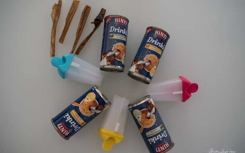 Selbst gemachtes Hundeeis mit Rinti Drinki, Eisförmchen und Kopfhaut-Sticks